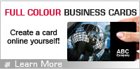 Full Colour Business Cards - Create a card online yourself! - Learn More